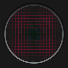 Red Radar Grid