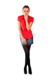 Woman Making Silence Gesture poster