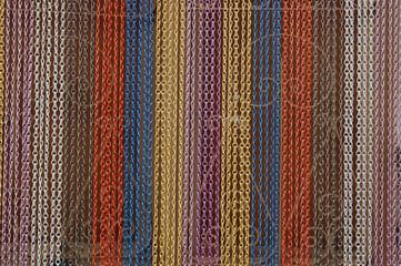 Cortina de cadenas de colores