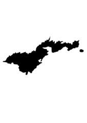 vector map of american samoa