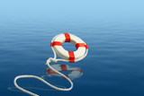 Life preserver for help poster
