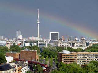 Berlin Panorama Regenbogen