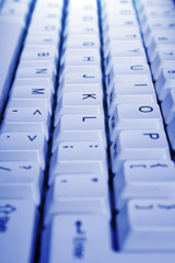 PC keyboard, close-up