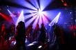 Leinwanddruck Bild - Dancing people in an underground club