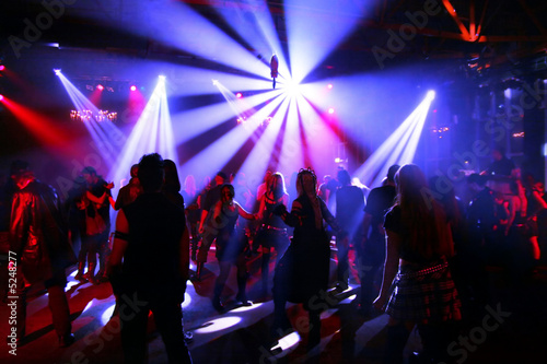 Dancing people in an underground club - 5248277
