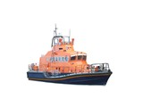 A British Lifeboat Sea Rescue Vessel. poster