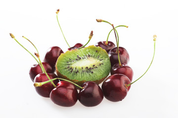 Cherry and  kiwi