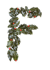 Holly With Berry Letter F