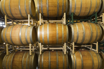 Wine Casks in row and stack