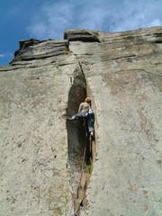 Rock Climber at Curbar Edge