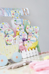 Toys and Cake for Baby Shower