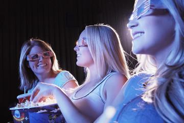 Friends Watching 3-D Movie