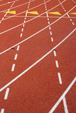 Lane Marks on Running Track