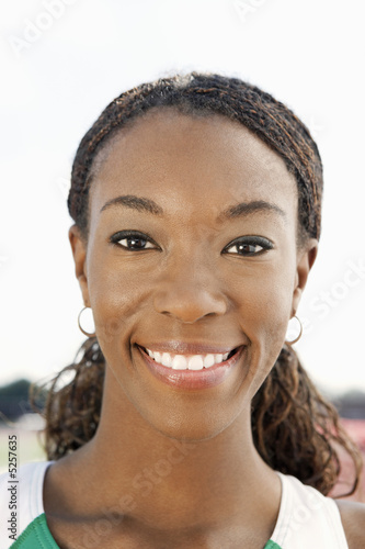 Woman smiling, portrait