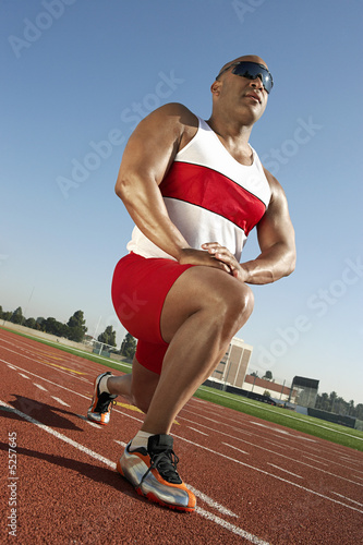 Track Athlete Warming Up