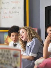 Children Listening to Teacher Read