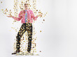 Businessman Being Showered in Money