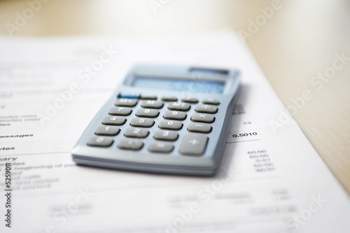 Calculator and Financial Bill