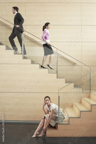 Businesspeople on Stairway