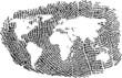 World Map represented in a Fingerprint