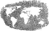World Map represented in a Fingerprint - 5259613
