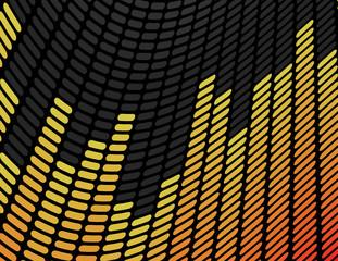 Orange and Yellow Music Equalizer Background