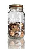 jar half full of pennies poster