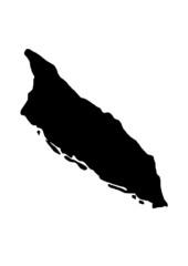 vector map of Aruba