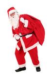Santa carrying his sack poster