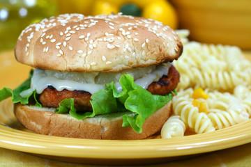 Teriyaki Salmon Burger