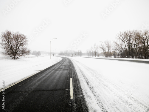 poster of Snow covered road