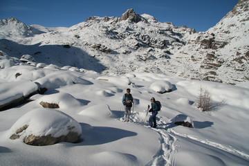 Randonneurs en montagne