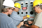 Electricians on High Voltage poster