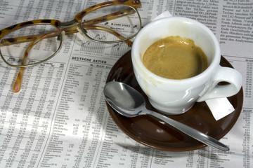 Café und Aktienkurse