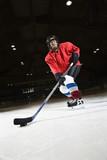Kobieta hokeja.