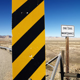 Caution road sign. poster