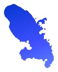 blue gradient map of Martinique