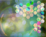 science abstract background poster