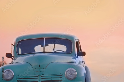 Old antique cars - 5271206