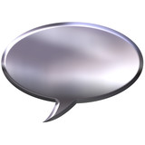 3D Silver Speech Bubble poster