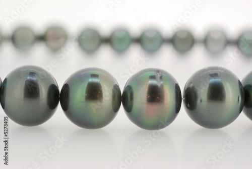 closeup of a drak pearl strand - 5278405