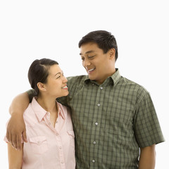 Mid adult Asian couple.