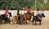 Fototapety enfants a poneys