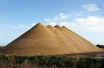 Huge Gravel Heaps - Like Pyramids