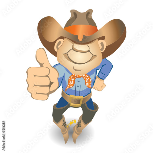 Thumbs Up Cowboy (vector or XXL jpeg image)