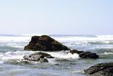 Rocks in the Atlantic in Portugal poster