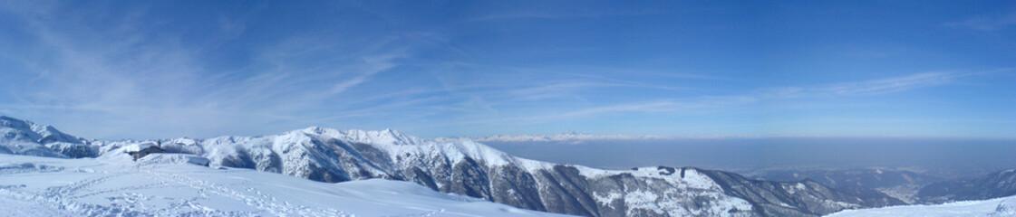 panorama dalle piste da sci di artesina