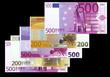 euros sur fond noir
