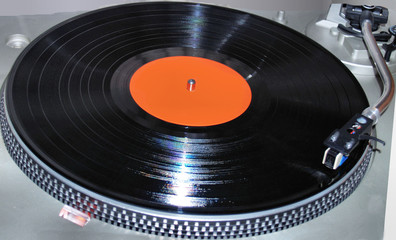 Vinyl LP on Turntable