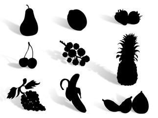 Frutta in silhouette